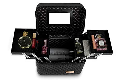 KEXG Vrouwen Grote Capaciteit Professionele Make-up Organizer Mode Toilettas Cosmetische Tas Multilayer Opbergdoos Draagbare Mooie koffer