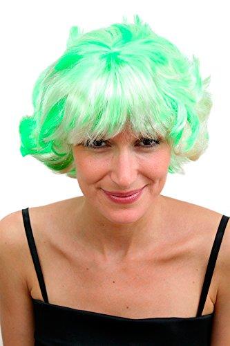 WIG ME UP Perruque blonde fluo, coupe osée et agressive.
