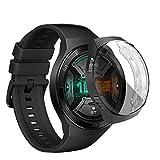 KONEE Cover Compatibile con Huawei Watch GT 2e 46mm, Custodia con Protezione di Schermo in TPU Flessibile, Custodia in Utrasottile ad Alta Definizione per Huawei Watch GT 2e 46mm - Nero