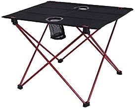 طاولة خارجية محمولة خفيفة الوزن لطاولة التخييم من الألومنيوم سبيكة بيكنك BBQ طاولة قابلة للطي في الهواء الطلق