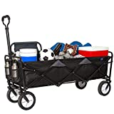 "MacSports Xtender Collapsible Folding Outdoor Utility Wagon | Extra Long Heavy Duty Cart w/Wheels for Shopping, Sports Equipment, Gardening, Events and Trade Shows | 49.5"" L x 18"" W Interior"