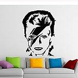 Etiqueta de la pared cantante música etiqueta de la pared sala de estar de los niños decoración del hogar pegatinas de vinilo decoración del hogar cartel56x76 cm