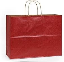 VOGUE CHRISTMAS RED 100% RecycledBULK Kraft Bags 16 x 6 x 12