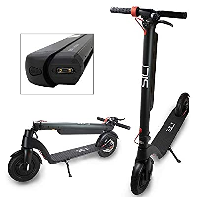 """SILI® Ryder Pro 36V Foldable Electric Scooter with 12.8Ah Panasonic Removable Battery. Powerful 350W 10"""" Front Motor, Top Speeds of 25km/h, UK Test House approved and CE Certified (Ryder Pro)"""