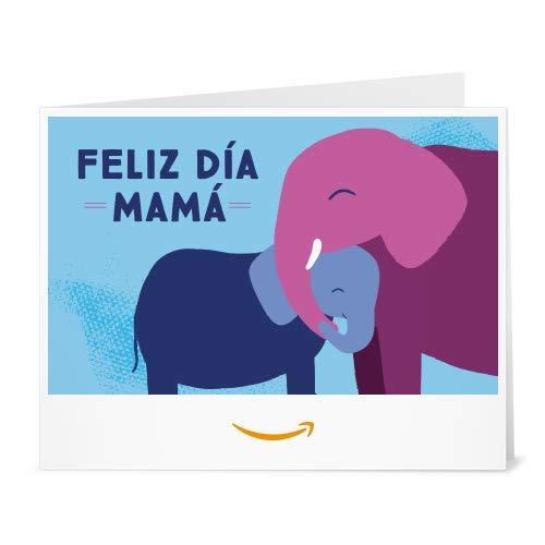 Cheques Regalo de Amazon.es - Para imprimir - Feliz día Mamá - Elefante