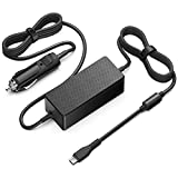 HKY 100W USB-C Car Charger for MacBook Pro 15-inch 13-inch Surface Go 2018 Surface Book 2 MacBook Air 2018 Lenovo Yoga Thinkpad HP Spectre X360 Chromebook Pixel Acer Samsung Asus Dell Travel Charger