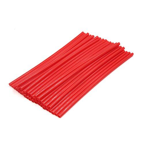 sourcingmap 36Pcs rouge foncé Jante Vélo réflecteur capot tube a parlé bande réfléchissante