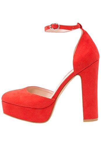 Even&Odd Zapatos de Plataforma para Mujer - Rojo, 38