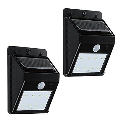 Solar Light - TURATA Solar Powered Security Lighting Outdoor Motion Sensor LED Lights for Garden Patio Fencing Path Lighting