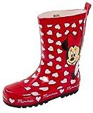 Disney Minnie Mouse 3D Gummistiefel für Kinder, rote Herzen, Regen Schnee Gummistiefel, Rot - rot -...