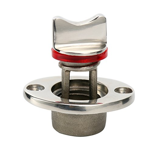 Amarine Made Oval Garboard Drain Plug Stainless Steel Boat Fits 1   Hole, Thread for 3 4   (1)