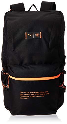 Puma x First Mile Backpack, Zaino Unisex-Adult, Black-Fizzy Orange, OSFA