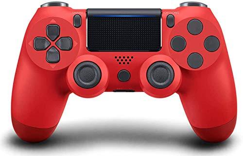 Mando PS4,Inalámbrico Gamepad,Mando Inalámbrico Vibración Doble/3D Sensores de Movimiento/Panel Multitáctil/3.5mm Puerto Audio,Bluetooth Gamepad Controlador para PS4/PS3/PS5/PC/Laptop (rojo)