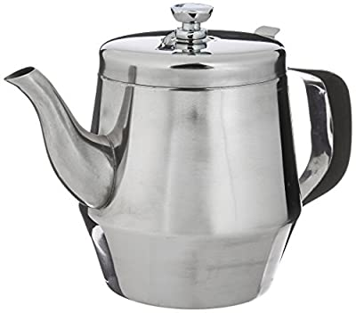 Winco Gooseneck Teapot, 32-Ounce,Stainless Steel,Medium