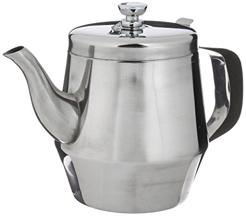 Winco Gooseneck Teapot, 32-Ounce,Stainless Steel,Medium