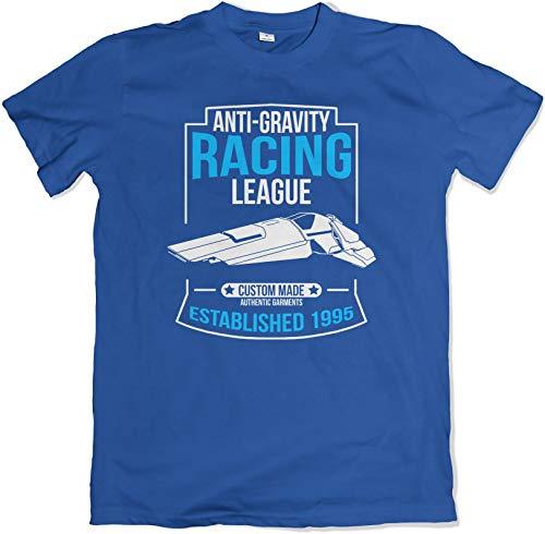 Anti-Gravity Racing League lustig Retro BLAU T Shirt Extra Large