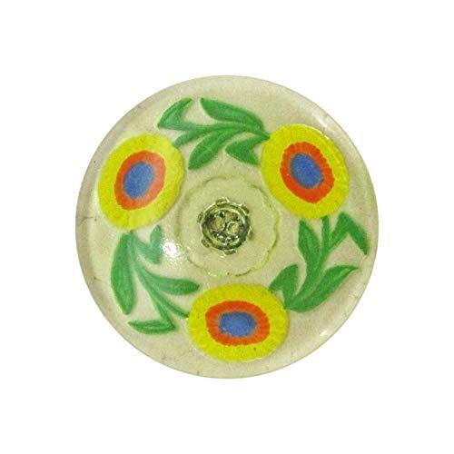 KIYOHARA チェコ ガラスボタン 14号 31.5mm 1個 #000 1004-14