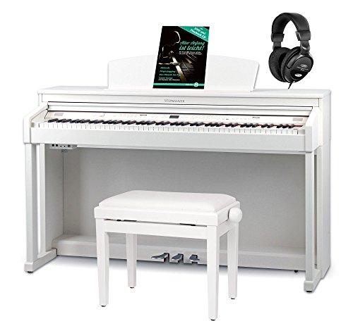 Steinmayer DP-360 WM Digitalpiano Set (88 Tasten, weiße Tasten aus Echtholz, Hammergewichtung, inkl. Klavierbank, Kopfhörer & Schule) weiß matt