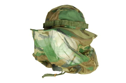 Rothco Boonie Hat with Mosquito Netting, 8, Woodland Camo