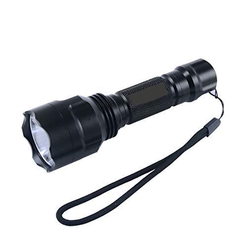 Linterna LED Cree T6 2000 lúmenes 1 modo linterna linterna luz para camping sin batería 18650 (color emisor: luz roja)