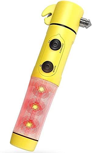 NYCUABT Interruptor de Ventanas - Cortador de cinturón de Seguridad - Linterna LED de Faro de Emergencia Parpadeante con una Potente Herramienta de Escape de Emergencia de Seguridad automática.