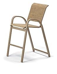 top 10 telescope casual furniture Aruba II Sling Collection Telescopic Casual Furniture Bar Stacking Height Aluminum Cafe Chair,…