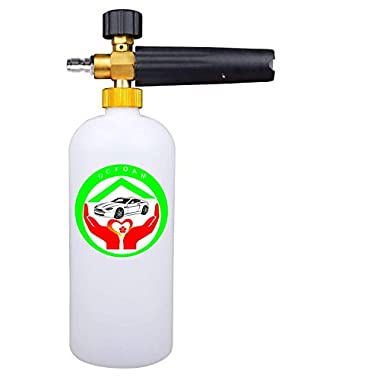 UCFOAM UC-999 Foam Cannon Adjustable Nozzle 1 Liter Bottle Snow Foam Lance With 1/4  Quick Connector Foam Blaster for Pressure Washer Gun