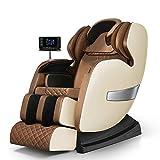 *MU Cadires de Massatge Elèctriques de Luxe 3D, Butaca Inclinable Multifunció amb Sistema de Calefacció, amb Pressió de Calor *Shiatsu *Full *Back *Back,Marró