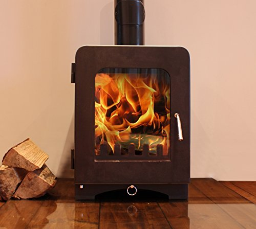 Modern Multi Fuel Woodburning Stove 5kW Clean Burn High Efficiency DEFRA Wood Coal Log Burning