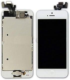شاشة بديلة لجهاز آيفون 5S مع شاشة LCD ولوحة لمس بيضاء
