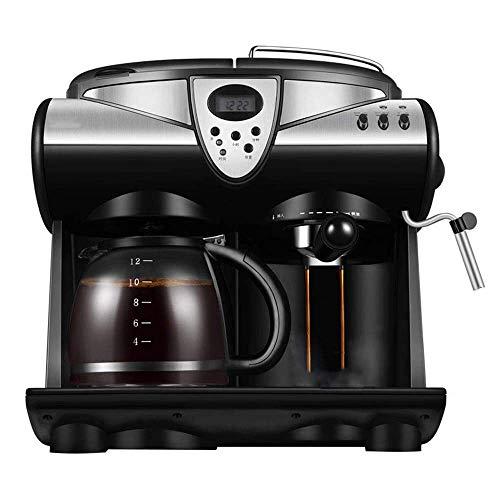 Living Equipment - Marcador de café americano, cafetera italiana automática con leche al vapor, 4-12 tazas, gran capacidad, 2-1, pantalla LED con olla de vidrio multifunción a prueba de explosiones