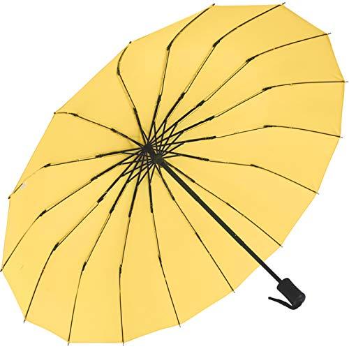iX-brella Taschenschirm 16-teilig mit Handöffner - gelb