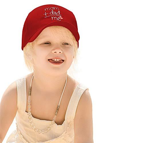 Winmany Gorra de béisbol ajustable de algodón bordado para niños de 0 a 3 años, rosso, Medium