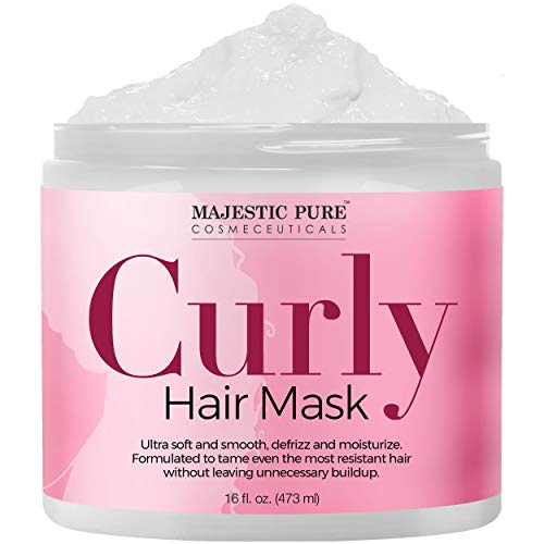 Majestic Pure Curly Hair Mask for Ultra Soft & Smooth Hair, Defrizz and Moisturize Dry, Damaged, and...