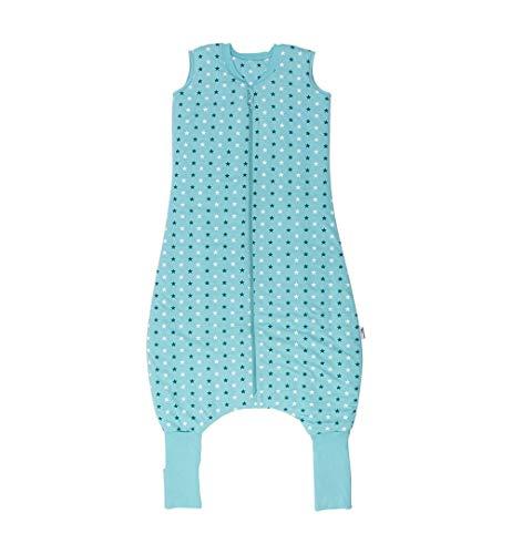 Schlummersack Ganzjahres Schlafsack mit Beinen 2.5 Tog - Teal Stars - 100 cm