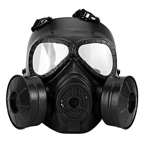 ZYC Full Face Gas Mask Military Reality CS Field Protective Helmet Commando Masque A GAZ Respirator Mascara De Gas Militar,Black