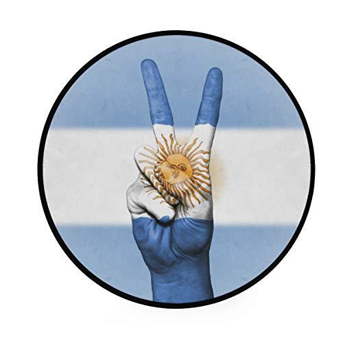 MALPLENA - Alfombra Antideslizante con diseño de Bandera de Argentina para Sala de Estar o Dormitorio