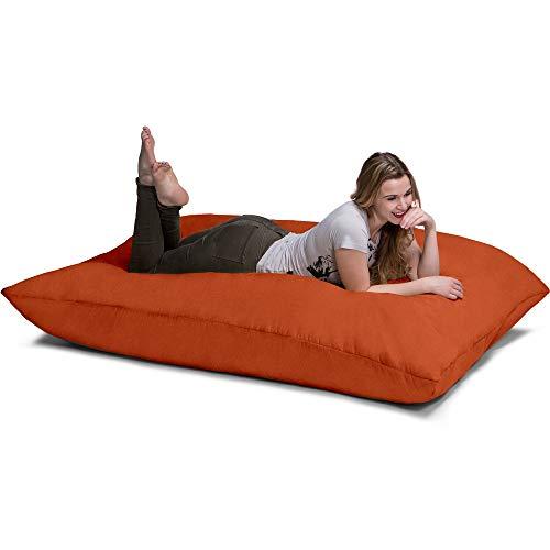 Jaxx Pillow Saxx Bean Bag, 5.5-Feet, Mandarin