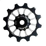 Mtb - Poleas de desviador trasero para bicicleta Al 7075 CNC 12 T rodamientos de cerámica para Sram XX1 XO1 X1 Narrow Wide Desviador Ruedas de tensión 1 pieza (1 unidad)