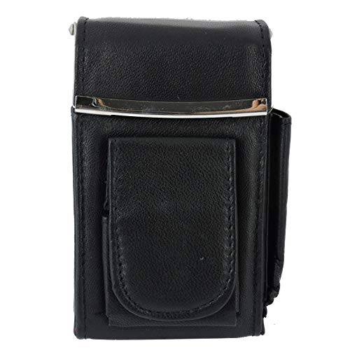 purs with lighters Cigarette Case Holder w Lighter Women Leather Cigarettes 100s Pack Purse Pouch Coin Ciggerate Wallet Framed Cases