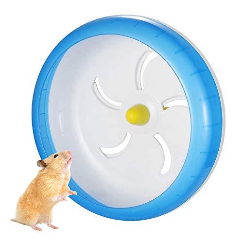 zfdg Hámster Rueda de Ejercicio, Hámster Rueda de Correr, Rueda Hámster Plástico, Rueda de Hámster, Hámster para Mascotas Rueda, para Totoro Mouse Squirrel Small Animal Pet Sports Training Toy (Azul)