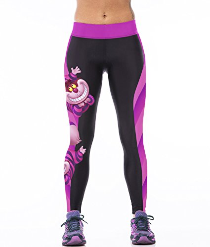 Ecolleciton@Damen Sport Training Bunt Muster Modelle Yoga-Stretch-Leggings Hose (C)