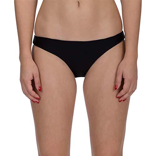 Hurley Women's Quick Dry Compression Solid Bikini Bottom, Black, XS