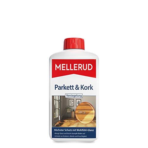 Mellerud Parkett & Kork Versiegelung – Wirksames Mittel zum Schutz von Parkett-, Holz-, Laminat- und Korkböden – 1 x 1 l