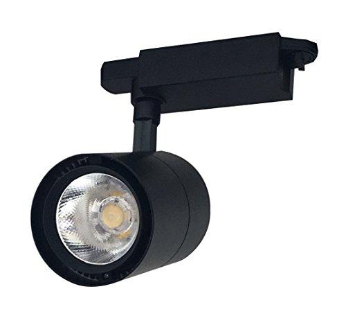 Foco de Carril LED COB 30W G8005 Negro Monofásico Luz Neutra 4000k-4500k Alta Luminosidad 3000lm Foco Led de Techo, Iluminacion de Comecial ONSSI LED