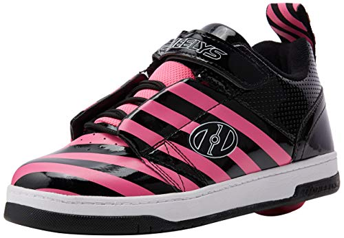 Heelys Damen Rift (he100628) Sneaker, Schwarz (Black/Hot Pink/Stripe Black/Hot Pink/Stripe), 39 EU