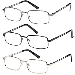 stainless steel framed magnifying reading glasses