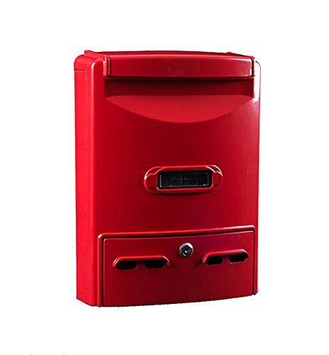 Xiao Jian Mailbox - gietijzeren aluminium, groot smeedijzer met slot Retro Home Outdoor muur kan in de brievenbus nummer van de brievenbus, geschikt voor villetjes, binnenplaatsen en thuis - diverse beschikbare