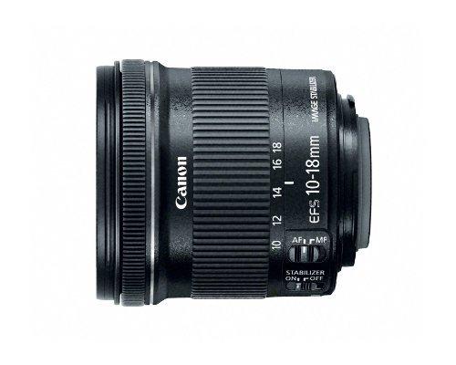 Canon EF-S10-18ISSTM 10 18 mm F/4,5,6 IS STM Obiettivo, Nero/Antracite