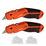 BLACK+DECKER Utility Knife, Retractable, Quick Change Blade, 2-Pack (BDHT1039495APB)
